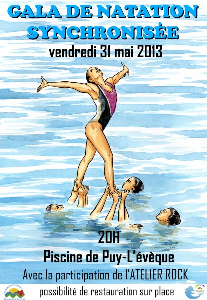 affiche gala natation synchronisée 2013